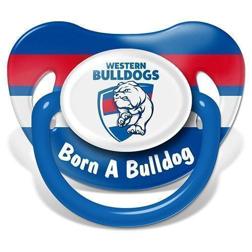 Western Bulldogs AFL Team Logo Infant Baby Dummy Pacifier +6 Months