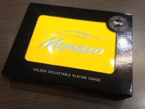 Holden Monaro Yellow Double Deck of Playing Cards in Collectable Tin