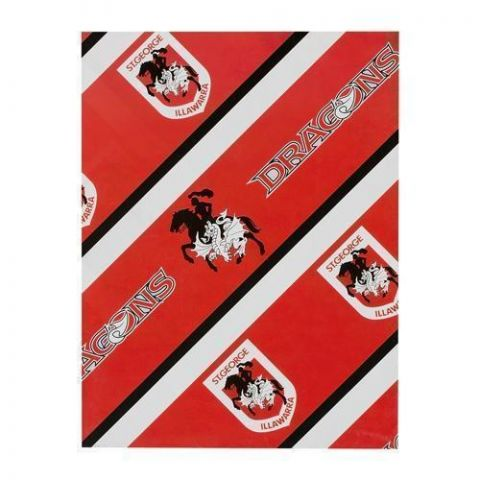 St George Illawarra Dragons NRL Gift Birthday Present Wrapping Paper